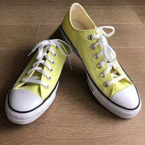 Converse All Star Sneakers Citron Yellow Size 9